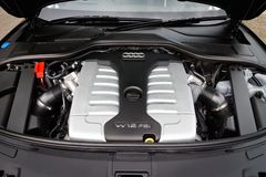 Audi A8L W12 2014 Engine Royalty Free Stock Photography