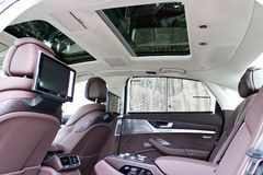 Audi A8L W12 2014 Interior Royalty Free Stock Photos