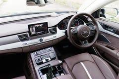 Audi A8L W12 2014 Interior Stock Photo