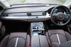 Audi A8L W12 2014 Interior Stock Image