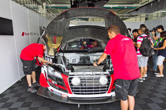 Audi LMS Cup 2013 Pit Work Shop Stock Images