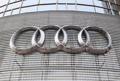 Audi Logo Royalty Free Stock Image