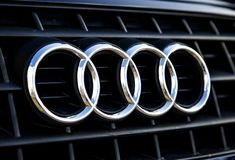 Audi logo Arkivfoto