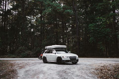 Audi luxury car in forest Royalty Free Stock Photography