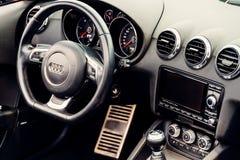 Audi Luxury Car Interior Royalty Free Stock Photo