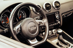 Audi Luxury Car Interior Royalty Free Stock Images