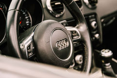 Audi Luxury Car Interior Royalty Free Stock Photos