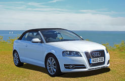Audi luxury convertible car. Photo of audi convertible car on display at whitstable car show during august 2017 Stock Photography
