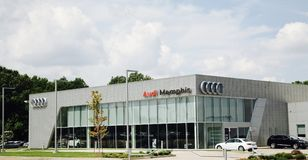 Audi of Memphis. Audi is a German car manufacturer of exotic, sports and sedan vehicles Stock Images