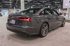 Audi A6 na exposição Imagem de Stock