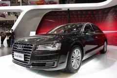 Audi nero a8l fotografie stock