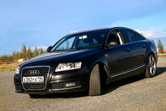 Audi A6. NOVYY URENGOY, RUSSIA - JUNE 20, 2017: Motor car Audi A6 at the countryside Royalty Free Stock Image
