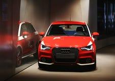 Audi A1, mässhall royaltyfri foto