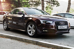 Audi A5 parked on the street Stock Images