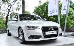 Audi A6 press launch in tophane-i amire building istanbul royalty free stock photo