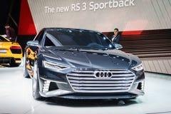 Audi prologu Avant pojęcie, Motorowy przedstawienie Geneve 2015 Zdjęcia Royalty Free