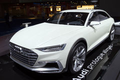 Audi Prologue Allroad. BRUSSELS - JAN 12, 2016: Audi Prologue Allroad on display at the Brussels Motor Show stock photos
