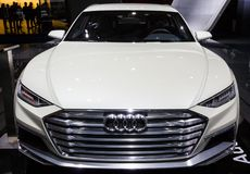 Audi Prologue Allroad car. BRUSSELS - JAN 12, 2016: Audi Prologue Allroad car showcased at the Brussels Motor Show royalty free stock images