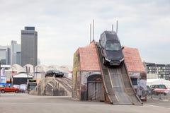 Audi Q7 ai parcours fuori strada fotografie stock