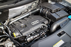 Audi Q3 Black Edition 2015 engine Royalty Free Stock Photography