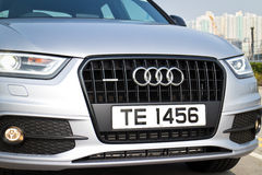 Audi Q3 Black Edition 2015 quattro mask Stock Images