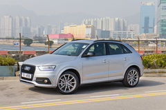 Audi Q3 Black Edition 2015 Test Drive Stock Image