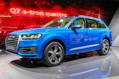 2015 Audi Q7 e-Tron Stock Afbeeldingen
