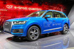 2015 Audi Q7 e-tron. Presented on the 85th International Geneva Motor Show Stock Images