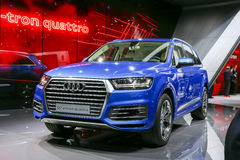2015 Audi Q7 e-tron. Presented on the 85th International Geneva Motor Show Royalty Free Stock Photos
