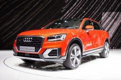 Audi Q2 in Genève stock afbeelding