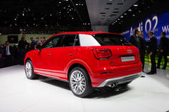 Audi Q2 in Geneva royalty free stock photos