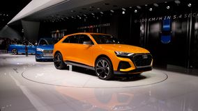 Audi Q8 at Geneva 2017 royalty free stock photography