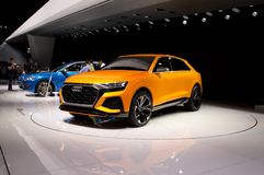 Audi Q8 at Geneva 2017 royalty free stock photo