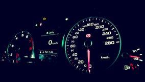 Audi Q5 instrumentpanel Arkivbild