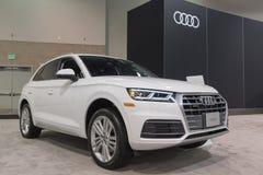 Audi Q5 op vertoning Stock Afbeelding