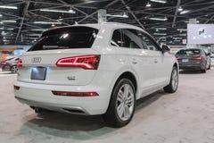 Audi Q5 op vertoning Royalty-vrije Stock Foto