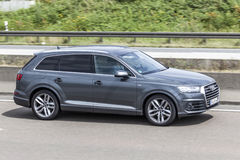 AUDI Q7 on the road Royalty Free Stock Images