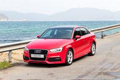 Audi Q3 Sedan 1.4 Ultra 2015 Test Drive Stock Photo