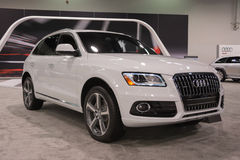 Audi Q5 SUV on display. Royalty Free Stock Photo