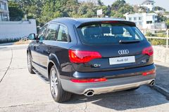Audi Q7 3.0T Quattro 2014 back side bumper Stock Photography