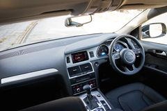 Audi Q7 3.0T Quattro 2014 drive bay Stock Photo