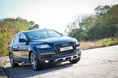Audi Q7 3.0T Quattro 2014 Model Royalty Free Stock Photography