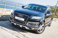 Audi Q7 3.0T Quattro 2014 Model Stock Photo