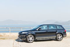 Audi Q7 3.0T Quattro 2014 Model Royalty Free Stock Photos