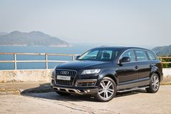 Audi Q7 3.0T Quattro 2014 Model Stock Image