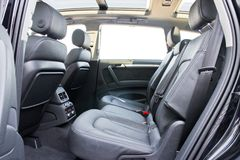 Audi Q7 3.0T Quattro 2014 rear seat Stock Photo