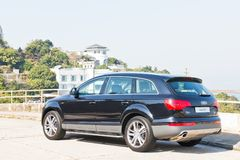 Audi Q7 3.0T Quattro 2014 side look Stock Image