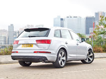 Audi Q7 2015 Test Drive Day Royalty Free Stock Photos