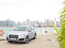 Audi Q7 2015 Test Drive Day Stock Images
