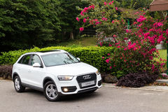 Audi Q3 2014 test drive Royalty Free Stock Photography